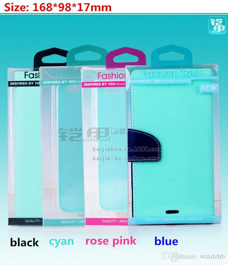 Cep Telefonu Için evrensel Perakende Plastik Ambalaj Paket Kutusu Deri Cüzdan Kılıf iphone 7 6 S 6 Artı 5 SE Samsung S6 Kenar Yok Blister