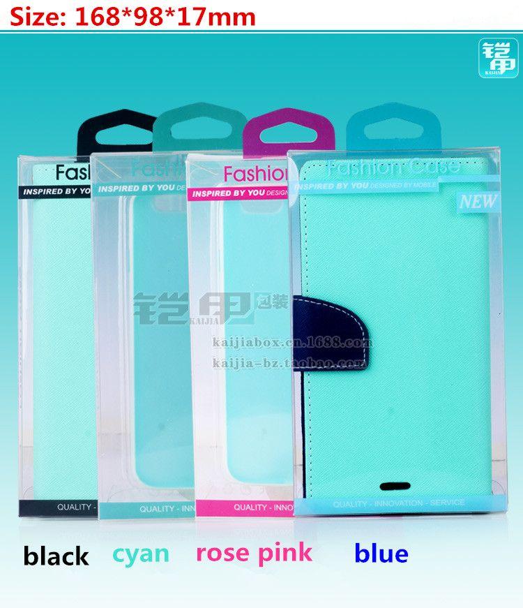 Universal Retail en plastique Emballage Paquet Boîte Pour Téléphone Portable En Cuir Portefeuille Cas Pour iPhone 7 6 S 6 Plus 5 SE Samsung S6 Bord Aucune Blister
