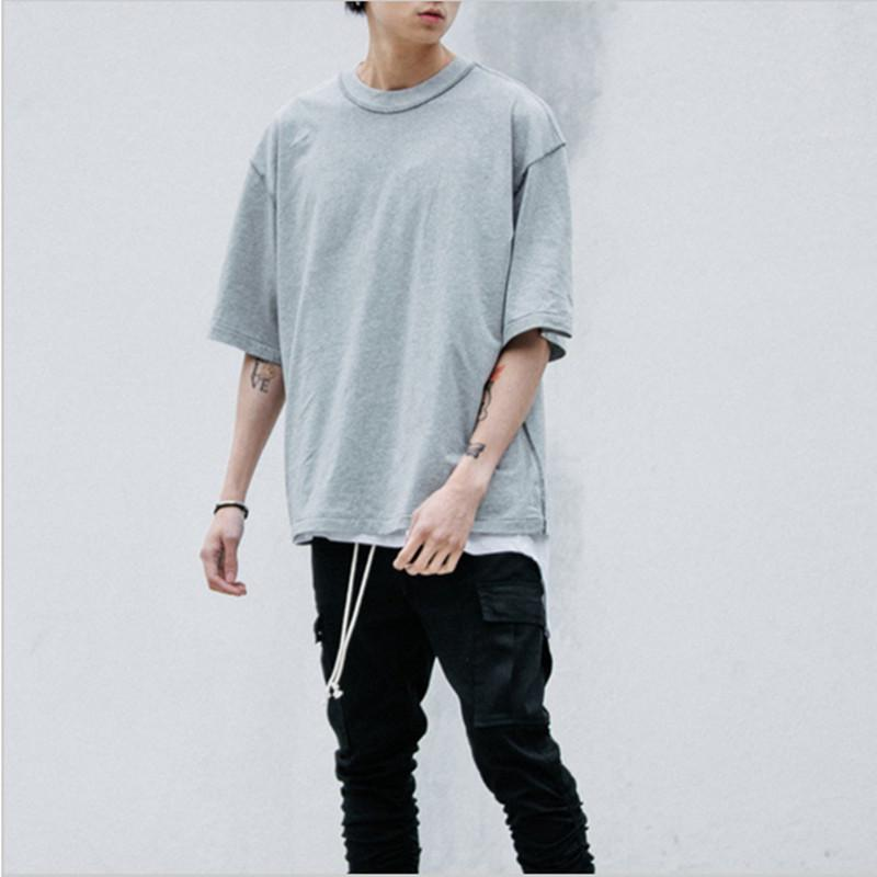 Bien connu Man Streetwear Kanye West Style Clothing Men T Shirts Extended  FG19