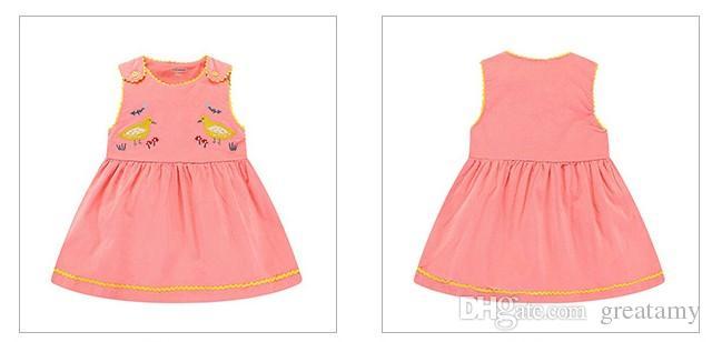 2017 Fashion Autumn baby girls vase dress kids girls embroidered elastic force corduroy skirt baby cute sleeveless bowknot dress