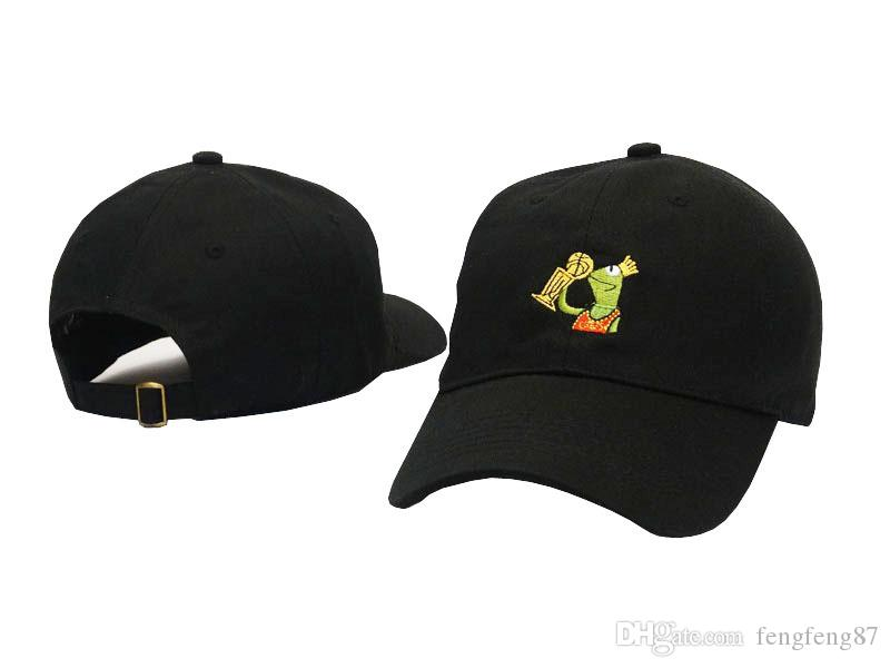 18f2cf9a387 Black LeBron James Kermit Hat None Of My Business Meme SNAPBACK Hat Cap  Sipping Tea Trophy Kanye West Bear Dad Caps Golf Hats Casquette Cap Hat  Flat Caps ...