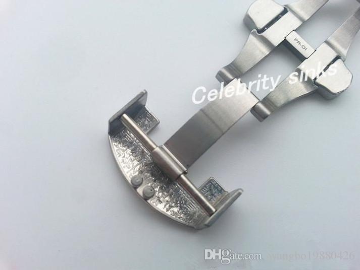 22mm neue Qualitäts-Edelstahl-Scrub Deployment Poliert Solide Doppel Faltschließe Armband-Band-Bügel-Haken Verwendung Für Panerai