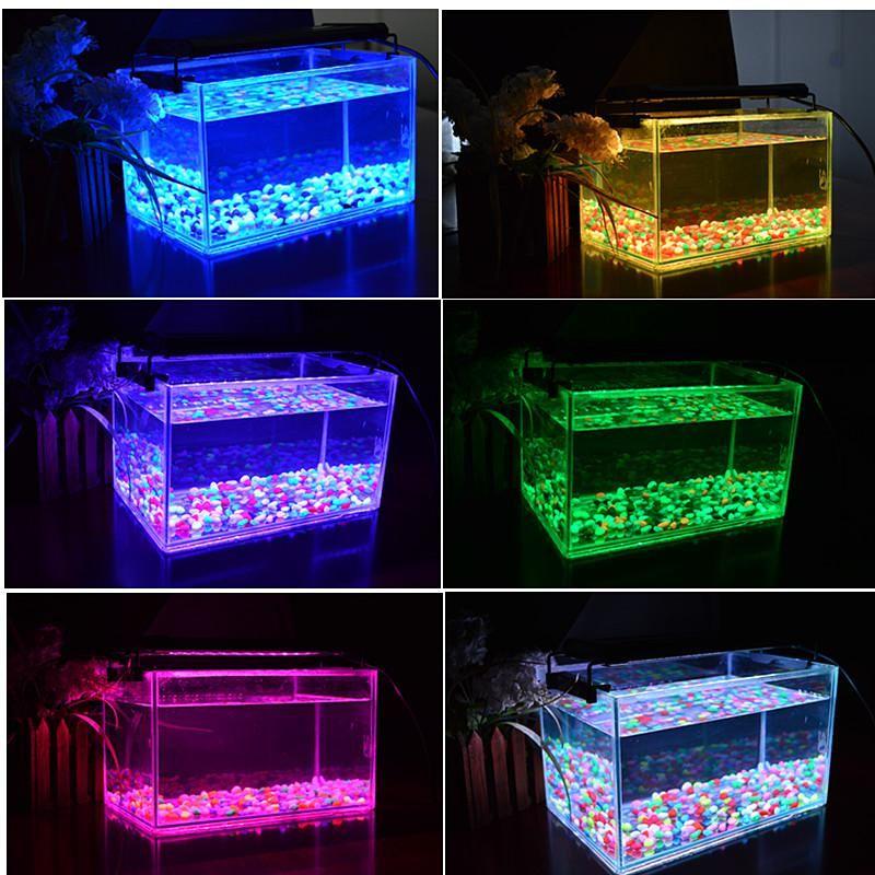 30 см расширен до 48 см 6 Вт RGB LED Аквариум свет для рыбы Риф танк 100 ~ 240 В подключи и играй с блоком питания