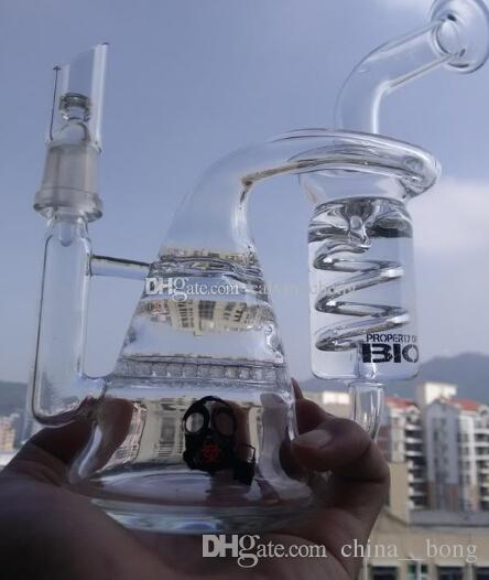 Recycler dab rigs E digital heating nail coil flat 16mm 20mm with Honeycomb glass bong water pipes for oil rig