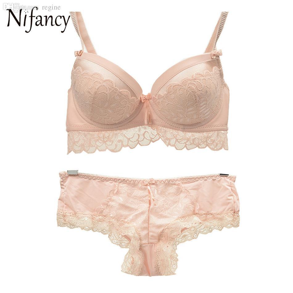 7fdb6df791 2019 Wholesale Luxury Women Bra Set Push Up Bra And Panty Set Sexy ...
