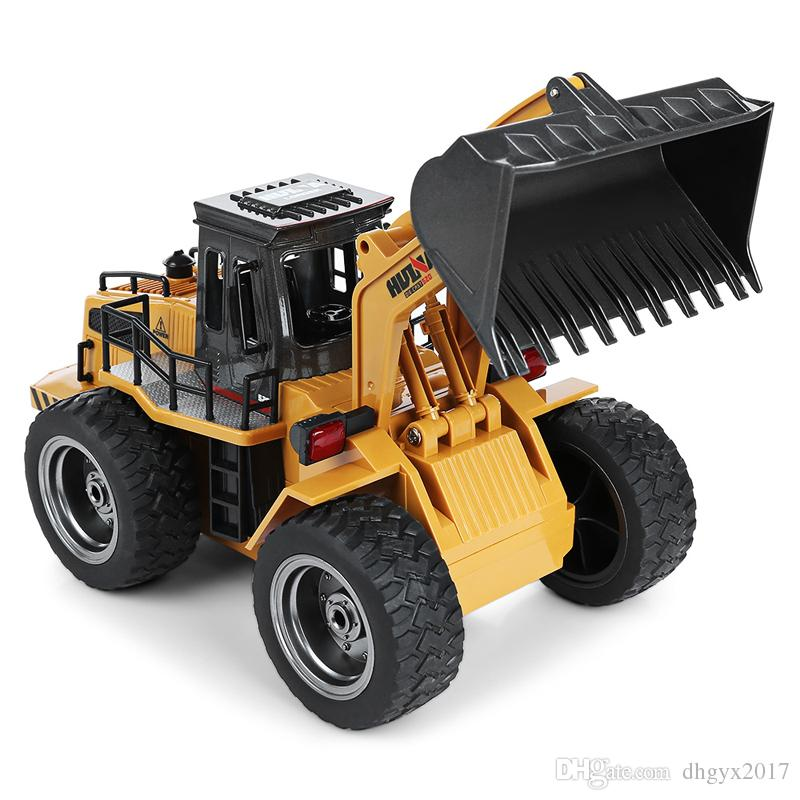 rc car 24g 6 channel 114 trucks metal bulldozer charging rtr remote control truck construction vehicle cars kids toys gifts wholesale remote control cars
