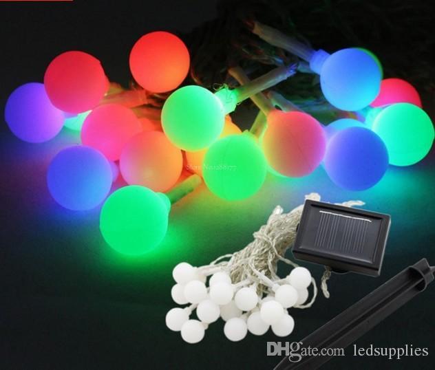 5m Solar Panel LED Lichterketten 20 LED Weihnachtsfeier Hochzeitsdekoration Outdoor LED Gartenleuchten