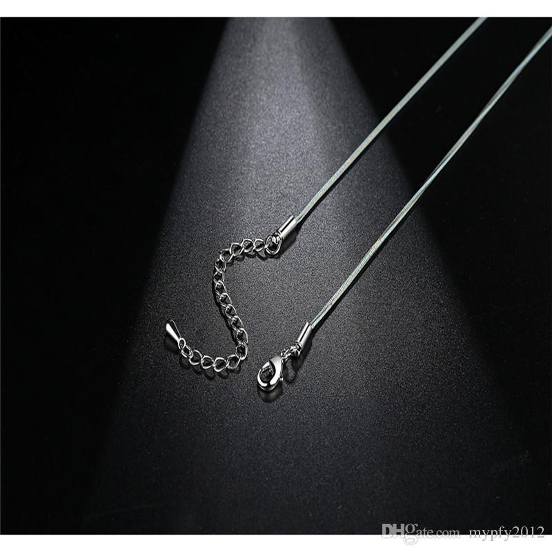 Nuevo diseño simple Cadena de serpiente de oro maciza Diseño Retro Cadena de serpiente de oro Barra colgantes Collar Para Mujeres Niñas Regalos es Mix TM