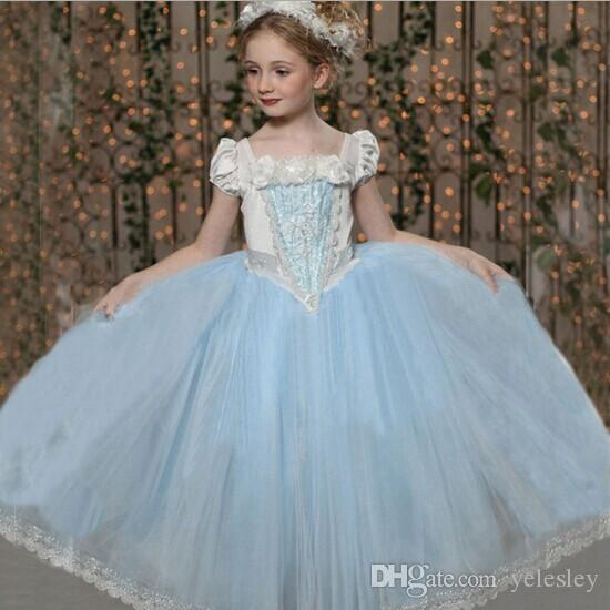 2018 New Cinderella Kids Dress Retail Princess Girl Dress With Cape ...
