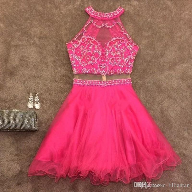 Beads Crop Top Skirt Homecoming Dresses short corset prom dresses Graduation Gowns Mini Skirt two piece cocktail party gowns