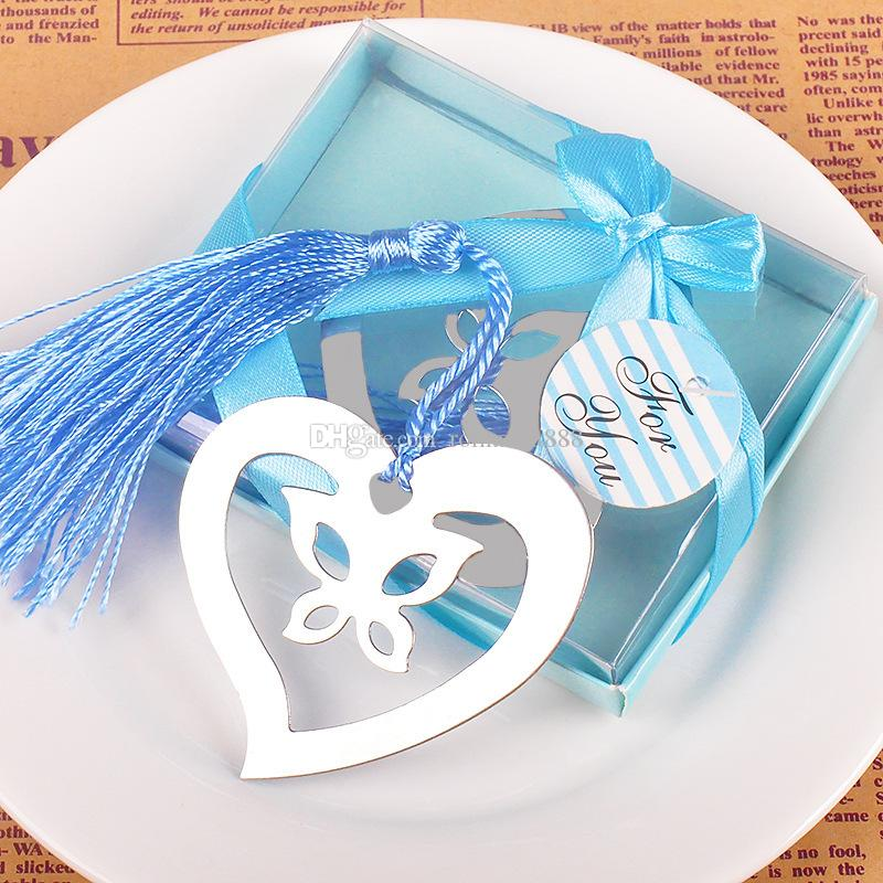 Cheap Return Gifts For Wedding: Bulk Butterfly In Love Heart Bookmark For Party Return