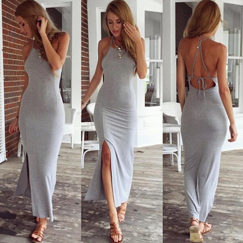 Vestido gris en verano