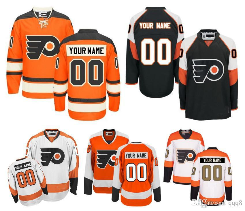 9259fcaf071 2019 Customized Men'S Philadelphia Flyers Jerseys Custom Stitched Any Name  Any Number Ice Hockey Jersey,Authentic Jersey Embroidery Logos From Qqq8,  ...