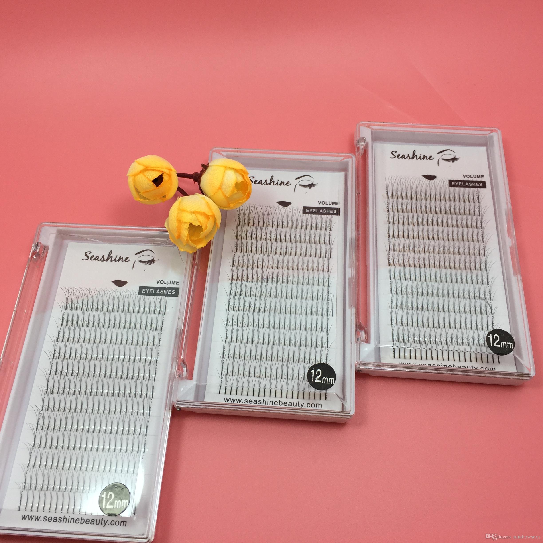 Wholesale price 10trays Premade fans lash 8--15mm C D curl 3D volume fans lash 0.07/0.10mm individual eyelash false eyelash extensions