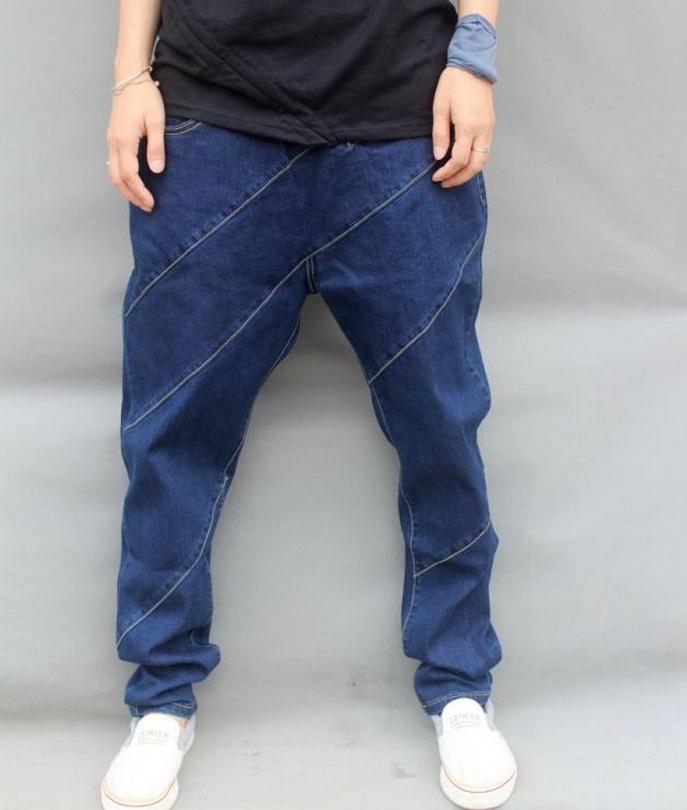 a31bc994115b9 Compre Pantalones Casuales Para Hombre 2015 Nuevos De Gran Tamaño De  Algodón De La Moda Hip Hop Marca Sueltan Los Pantalones Vaqueros Elásticos  30 42 A ...