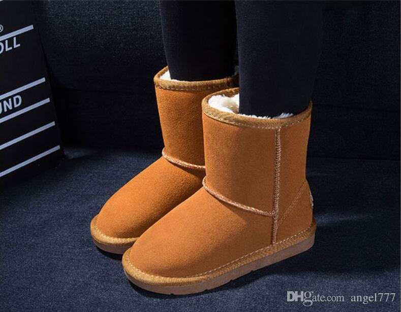 2016 New Real Australia Alta qualità Bambini Ragazzi ragazze bambini bambino 5281 scarponi da neve caldi Studenti adolescenti Snow Winter boots