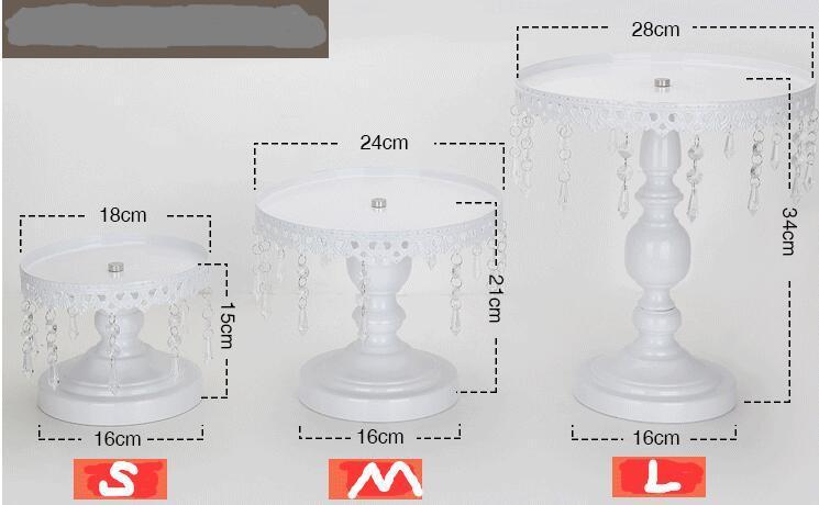 Soporte de la torta Metal Metal Cristalino Colgante Soporte de la magdalena Banquete de boda Decoración Proveedor Hornear Pastelería Pastel Postre Herramientas Oro y plata