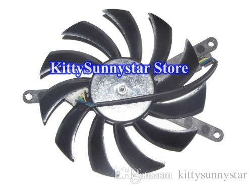 Replacement GTX 460 GTX560 TI Graphic Cooler Fan PLD08010S12HH 12V 4Wire 75mm Video Fan