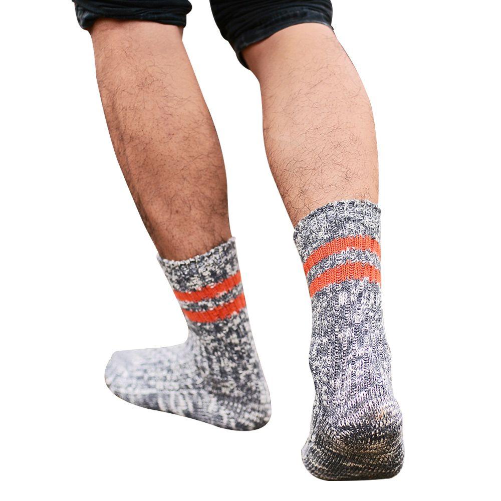 Yeni Moda erkek Kış Rahat Kalın Çizgi Termal Yumuşak Çorap Şerit Vintage Sıcak Çorap Ücretsiz Nakliye Tutmak