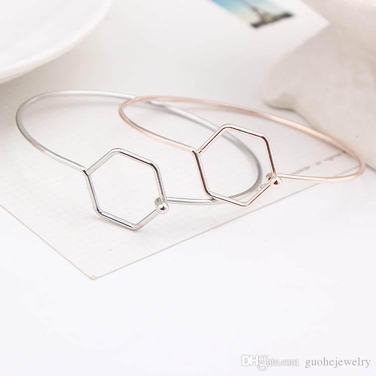 Hot Bracelets for women Hot sell simple Rose Gold wild bangles trend open bangles