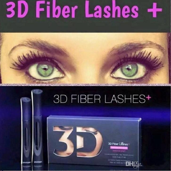 2016 HOT !! 2016 Date 1030 version 3D Fiber Cils Étanche Double Mascara 3D FIBRES CILS Défini Maquillage Cils =