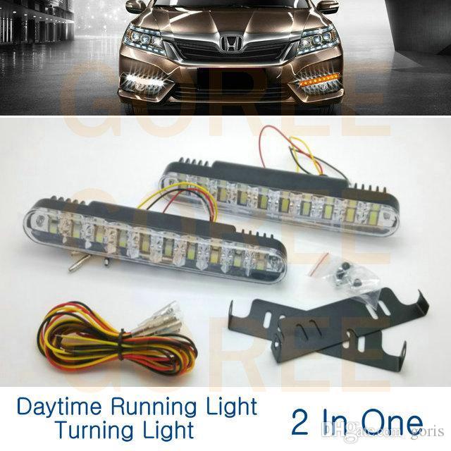 جودة عالية 2 × 30 سيارة الصمام النهار الجري الخفيف مصباح النهار drl مع أضواء بدوره لتويوتا vw