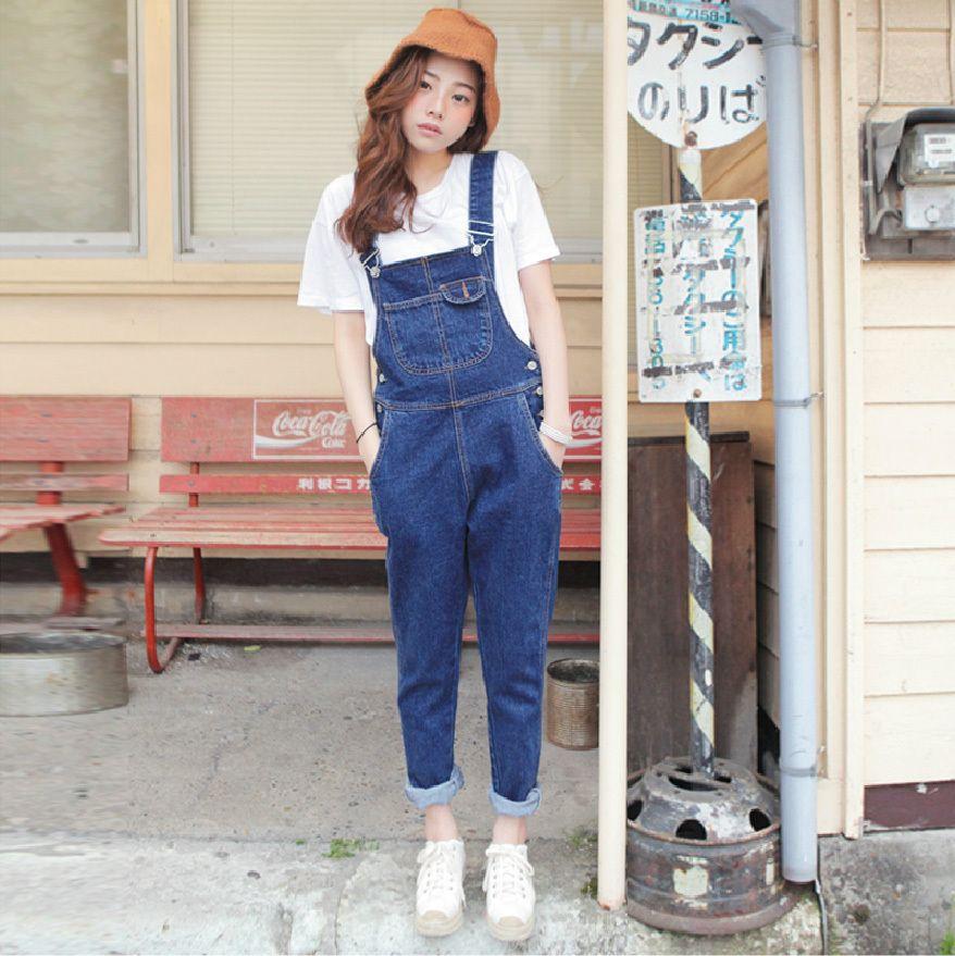 d26ef7cbeb2 2019 Wholesale Playsuits 2017 Korean Jumpsuit Pants Denim Plus Size Womens  Jumpsuit Harajuku Jumpsuit Summer Overalls Denim Overalls Women From  Duixinju