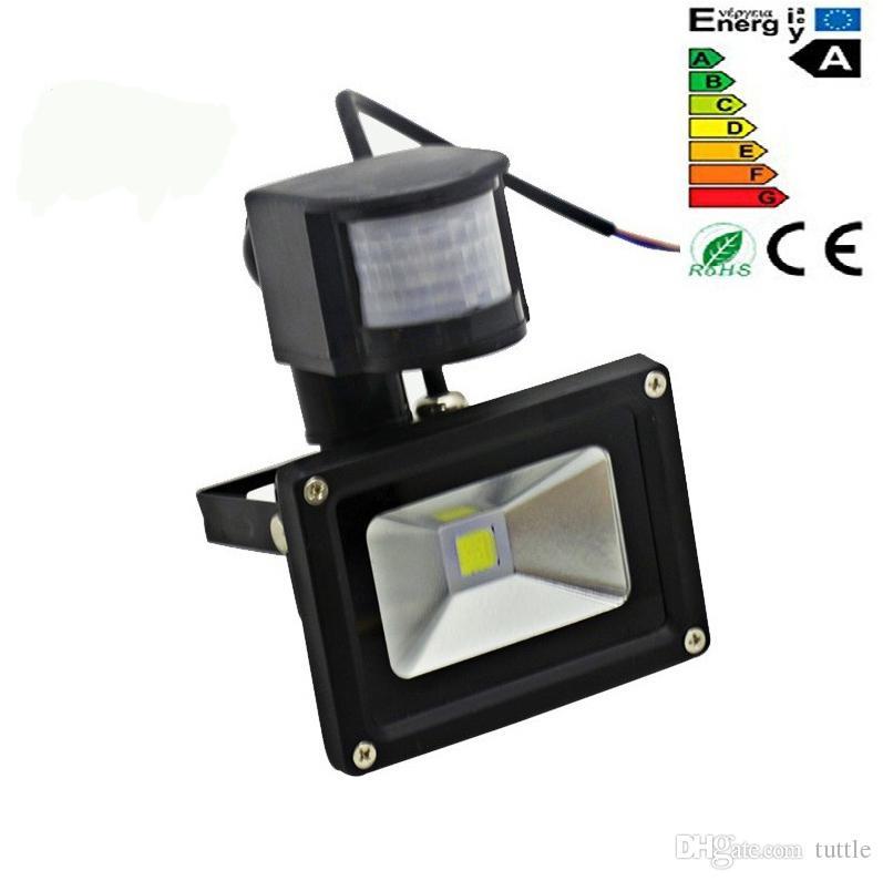 Sensor de movimiento por infrarrojos PIR llevó el reflector 110-265V 10W 20W 30W 50W COB IP65 llevó la luz de inundación para el jardín al aire libre llevó el proyector
