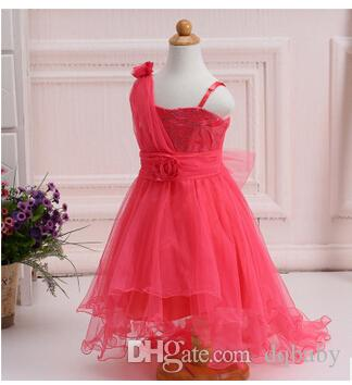 2019 New Summer Baby Girls Party Dress Evening Wear Long Tail Girls Clothes  Elegant Flower Girl Dress Kids Baby Dresses From Dqbaby 238954fb7807