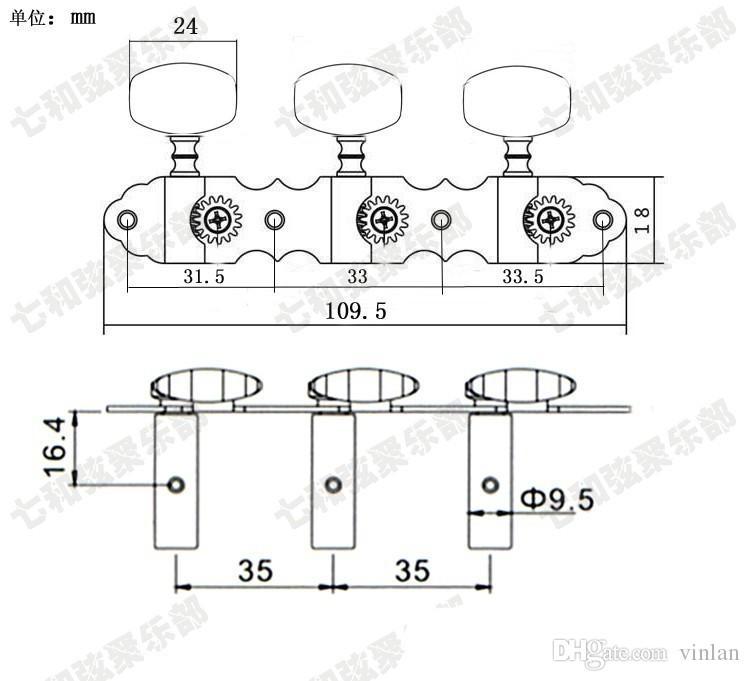 T38 3R3L 어쿠스틱 기타 튜너 스트링 버튼 튜닝 페그 키 악기 액세서리 기타 부품