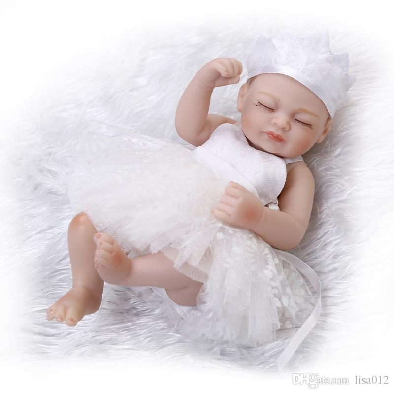 26cm Sleeping Baby Dolls Silicone Doll Reborn Baby Girl Boy Shower Dolls Bebe Reborn Dolls Princess Birthday Gift Kids Toys Baby Baby Doll Reborn Dolls From Lisa012 28 75 Dhgate Com