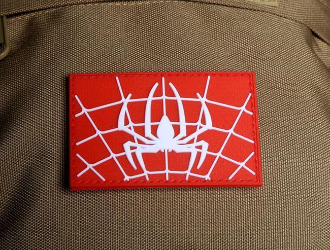 VP-70 Spider Icon Super Hero Spiderman 3D Parches tácticos Army Morale Badge PVC Rubber STICK-ON Parche en el parche