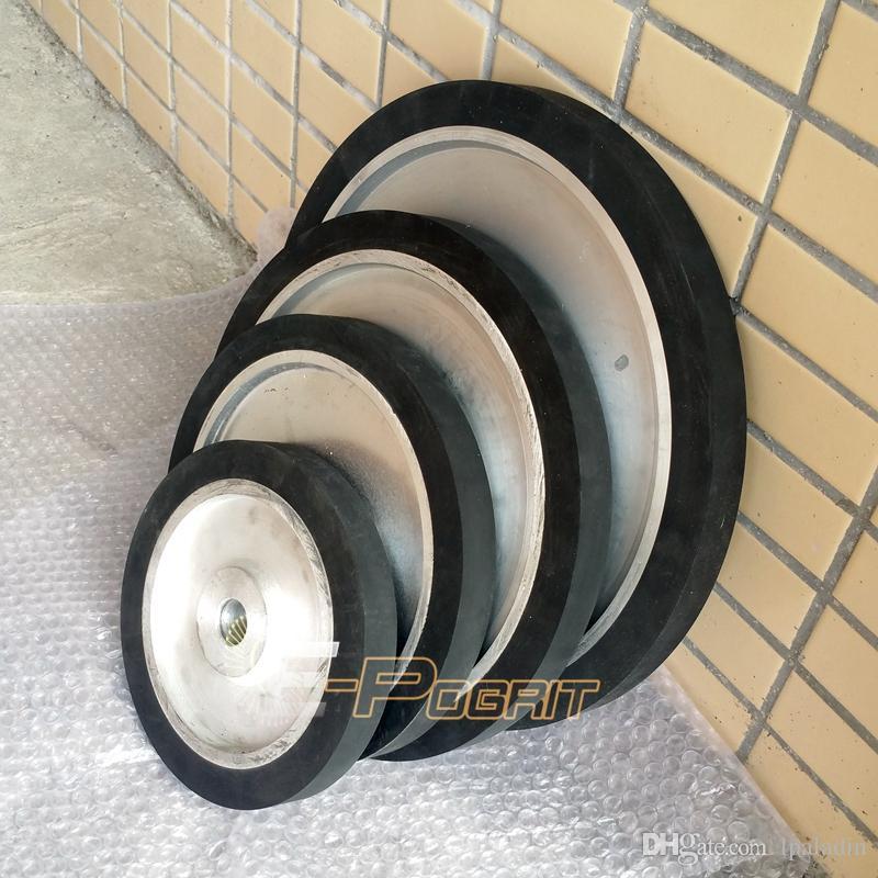 8543970f653 Compre Roda De Borracha Lisa Da Roda Do Contato Do OD 100 350mm Roda De  Borracha Da Correia Da Lixadeira Da Largura De 25mm Usada No Moedor Da  Correia De ...