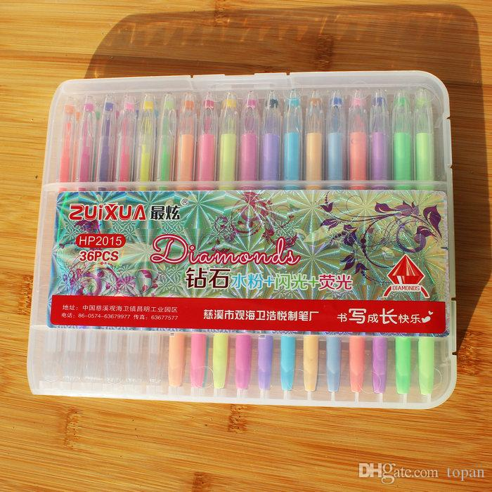 Best Newest Secret Garden Neon Water Chalk Diamond Gel Pens