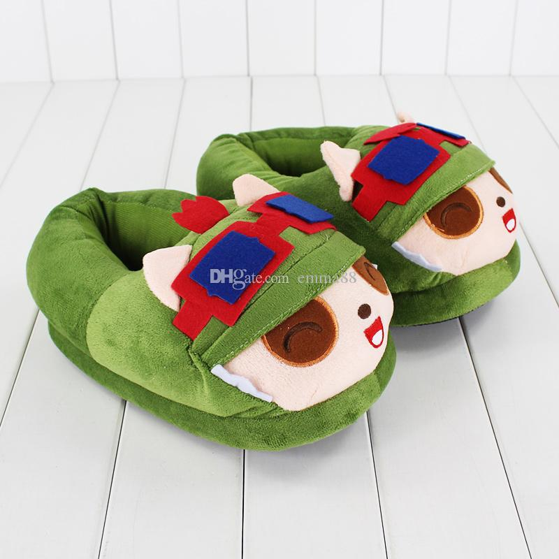 26cm League of Legends Teemo Slippers plush Soft Doll Toy birthday Christmas gift retail