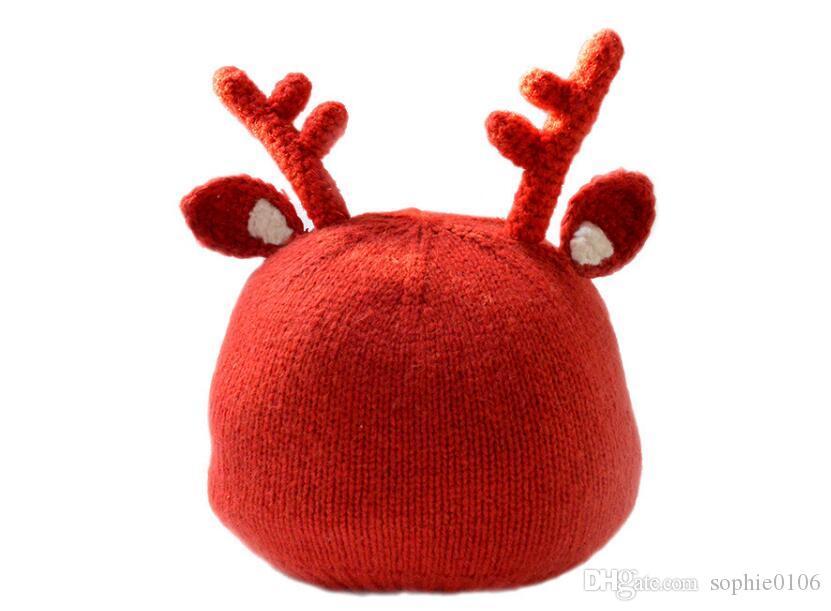 Chapéus de natal Chapéu Do Bebê de Alta-grade de Natal tampas de Papai Noel tampas Dos Miúdos Moose chapéus Nova Decoração MJ 001