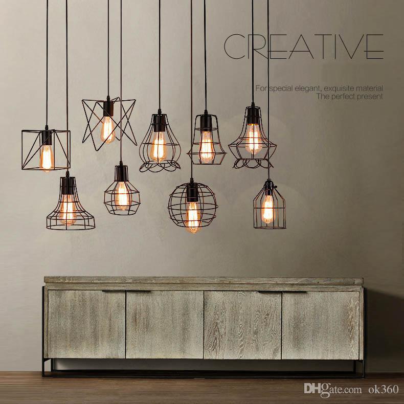 Acheter Edison Vintage Lampe Retro Fer Pendentif Lumiere Loft Lampes