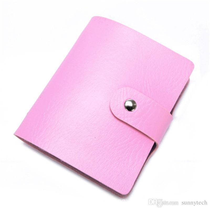 60 Bit Ranuras Gran capacidad Nuevas tarjetas de visita Bolsas Mujeres Hombres Paquetes antimagnéticos Titulares de ID de banco Juegos de titulares de tarjetas LZ0538