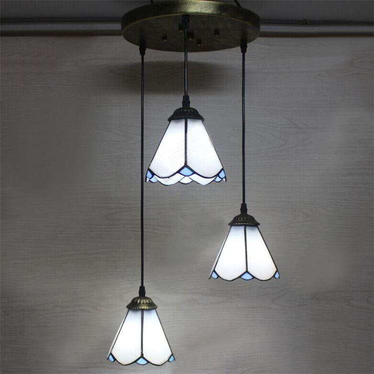 Brief Stained Glass Tiffany Pendant Light American Village Bar ...