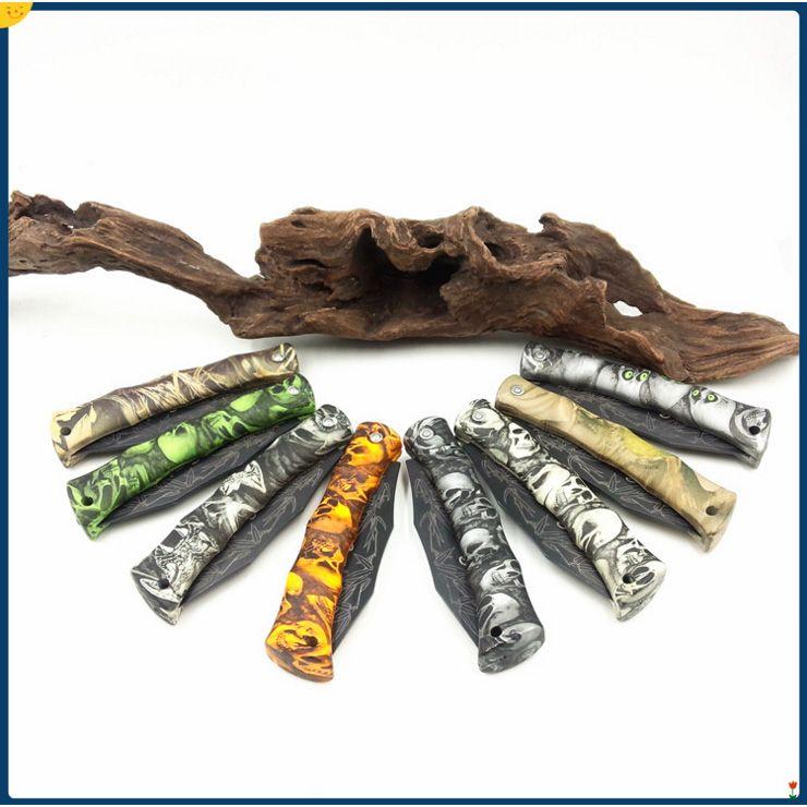 cuchillos directo de fábrica 8 estilos Ghillie de bolsillo plegable de la lámina del cuchillo cuchillos de la fruta ABS maneja el cuchillo de bolsillo mini cuchillo de la supervivencia