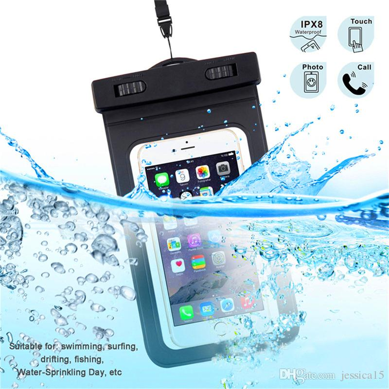bd174400e2f281 Universal Waterproof Pouch Case 6 Inch PVC Protective Dry Bag 20M Underwater  Phone Cases With Lanyard Armbelt For IPhone 6S 7 Plus Samsung Cases For Cell  ...