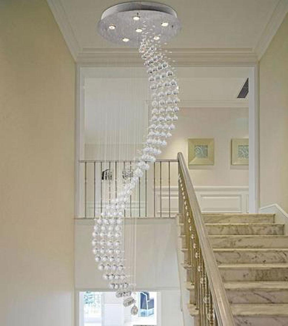 spiral rain drop chandelier modern crystal chandeliers lighting  - spiral rain drop chandelier modern crystal chandeliers lighting staircaselights home decor stairs hanging suspension lamps paper chandelier linear