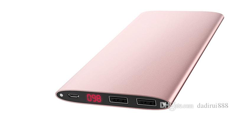 New hot Power Bank Digital display 10000mah 2 USB output Powerbanks Phone Backup battery Universal Charger for phone tablet PC Custom LOGO
