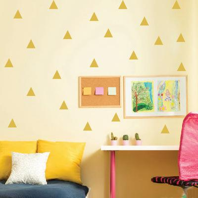 Cartoon Children\'s Room Wall Stickers Removable Golden Triangle ...