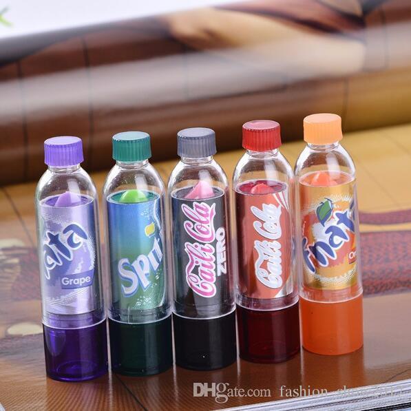 New Fashion Beauty Change Color Cola sweet Cute Moisturizer Faint Scent Lip Balm Lipstick Brand Makeup