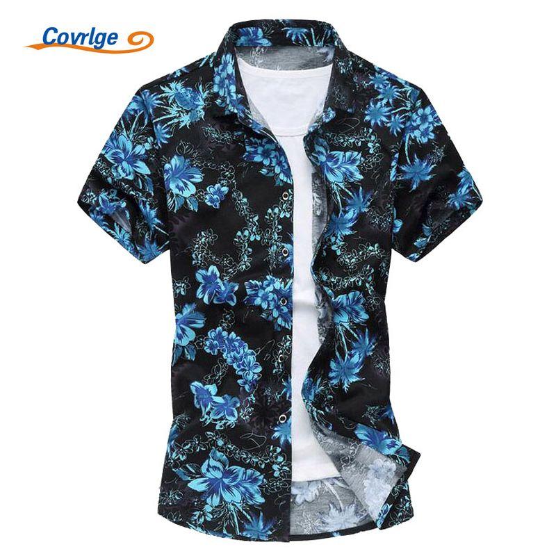 64cc572a779 2019 Wholesale Covrlge Men S Shirt Fashion Brand Hawaiian Shirt Summer Mens  Short Sleeved Casual Shirts Big Sizes 5xl Printed Beachwear MCS014 From ...