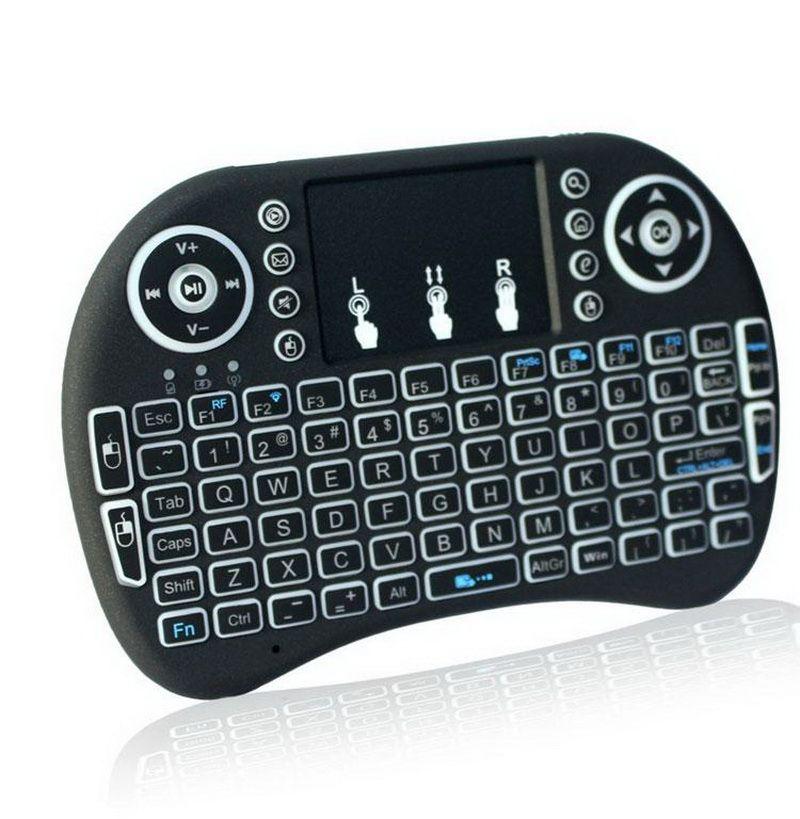Fly Air Mouse 2.4G I8 Беспроводная клавиатура с подсветкой Красные зеленые синие дистанционные контроллеры для MXQ M8S CSA93 S905X S912 S812 S805 TV Box