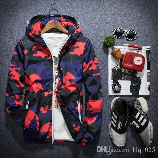 Nuovi 2017 giacche da uomo cappotti da uomo Abbigliamento sportivo Felpe con cappuccio da uomo Giacca da uomo mimetica Giacche a vento spedizione gratuita