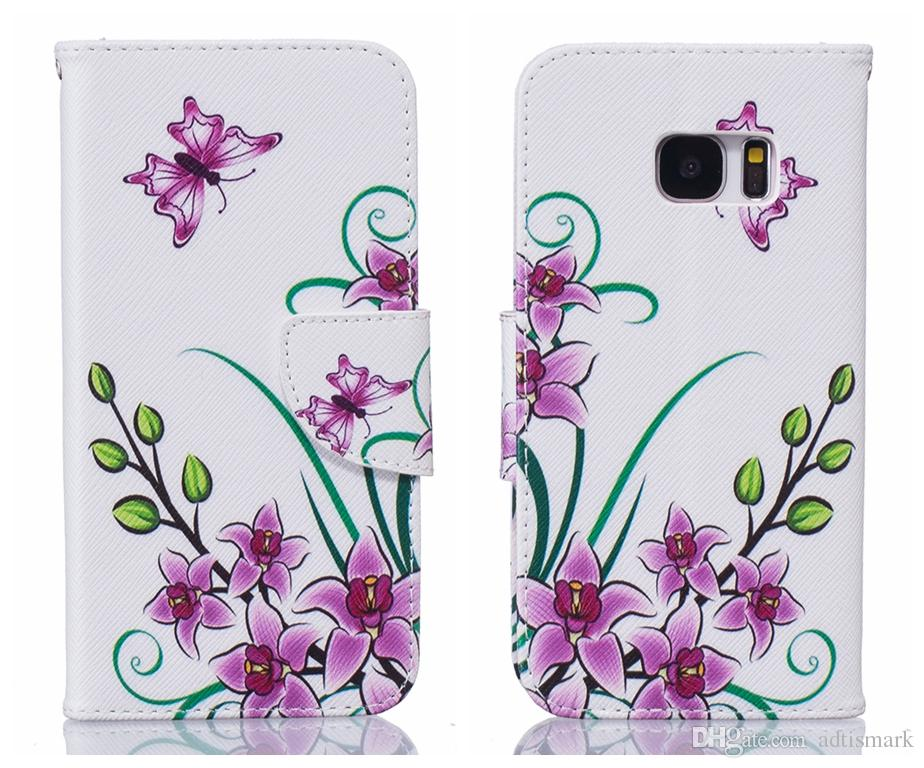 Cover For Samsung Galaxy S8 Plus S7 S6 edge S5 Case Luxury Card Wallet 2017 Newest For Galaxy S7 edge Case Cover