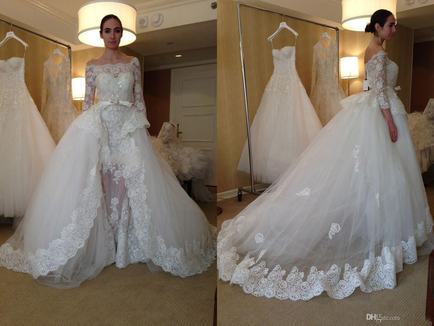 Discount 2016 Detachable Skirt Wedding Dress With